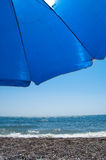 Sunshade on the beach Royalty Free Stock Photography