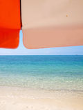 Sunshade on beach Stock Images