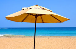 Sunshade at the beach Stock Image