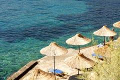 Sunshade at the beach Royalty Free Stock Photos