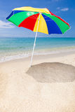 Sunshade at the beach Royalty Free Stock Image