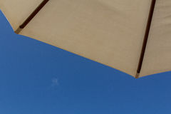Sunshade with blue sky Royalty Free Stock Image
