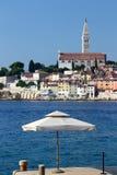 Sunshade and city Royalty Free Stock Image