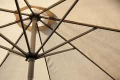 Sunshade covered by rain drops Royalty Free Stock Photography