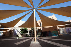 Sunshade in Doha, Qatar Royalty Free Stock Images