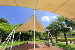 Sunshade at gulangyu islet Royalty Free Stock Photos