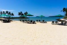 Sunshade Kota Kinabalu Beach Stock Image