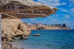 Sunshade plaża Obraz Stock