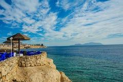 Sunshade plażowy czerwony morze Fotografia Stock
