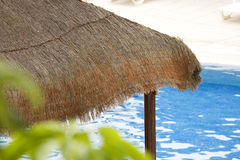 Sunshade by pool Stock Image