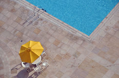 Sunshade at poolside Royalty Free Stock Photo