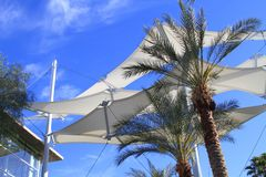USA, Arizona: Sunshade sails Stock Photo