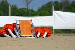 Sunshade stands Stock Images