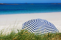 Sunshade at the summer beach Stock Image