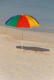 Sunshade umbrella on beach Royalty Free Stock Image