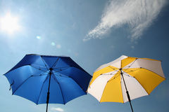 Sunshades royalty free stock images
