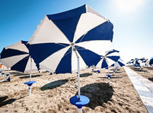 Sunshades at a beach Stock Image