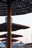 Sunshades row Royalty Free Stock Images