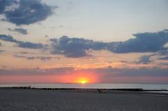 Sunshet στις Κάτω Χώρες με το νεφελώδη καιρό στοκ εικόνα με δικαίωμα ελεύθερης χρήσης
