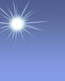 Sunshine. On a Sky Blue Background Royalty Free Stock Photo