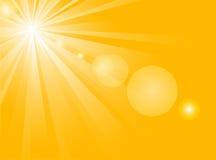 Sunshine. Background with hot summer sun Royalty Free Stock Image
