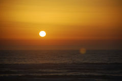 Sunshine. In the Atlantic Ocean Royalty Free Stock Images