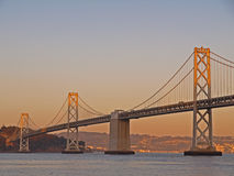 Sunshine above Bay Bridge Royalty Free Stock Photography