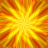 Sunshine Abstract Background. Bright and vivid orange and yellow wavy sunshiny rays in this swirling abstract background Stock Images