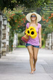 Sunshine And Sunflowers Royalty Free Stock Images