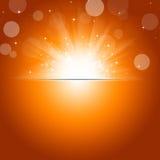 Sunshine Autumn Background Royalty Free Stock Photography