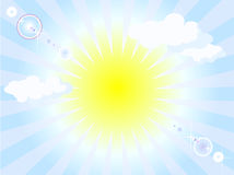 Sunshine background Royalty Free Stock Photography