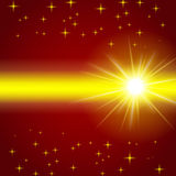 Sunshine on a background with stars Stock Image