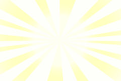Sunshine background with white and yellow stripes Royalty Free Stock Photography