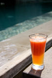 Sunshine,Beach & Fruit punch drinks Stock Image