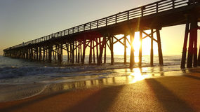 Sunshine at the Beach Pier Royalty Free Stock Image