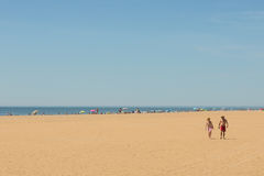 Sunshine on the beaches of Costa de Luz, Ayamonte, Spain. Royalty Free Stock Photo