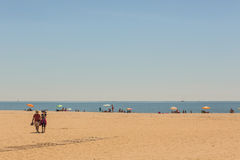 Sunshine on the beaches of Costa de Luz, Ayamonte, Spain. Stock Photography