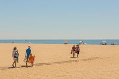 Sunshine on the beaches of Costa de Luz, Ayamonte, Spain. Stock Images