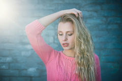 Sunshine and beautiful girl, outdoor portrait Stock Photography