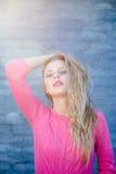 Sunshine and beautiful girl, outdoor portrait Stock Image