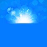 Sunshine Blue Background Stock Images