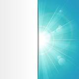 Sunshine blue banner Royalty Free Stock Photos