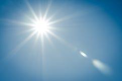 Sunshine. On blue sky background Royalty Free Stock Images