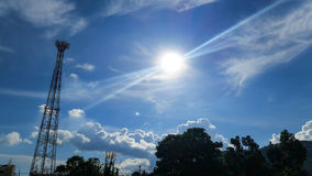 Sunshine and blue sky Royalty Free Stock Photography