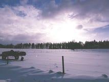 Sunshine. Blue sky sun winter stock image