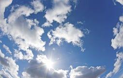 Sunshine blue summer sky. Stock Photos