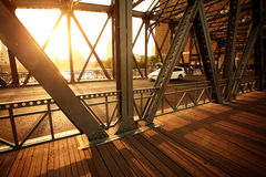 Sunshine with bridge Stock Photos