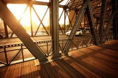 Sunshine with bridge. In shanghai Stock Photos