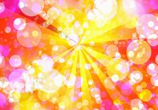 Sunshine bubbles backgrounds. With sunbeam pattern Stock Photos
