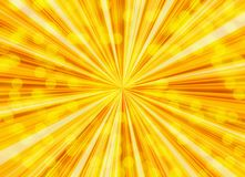 Sunshine bubbles backgrounds. With sunbeam pattern Stock Images